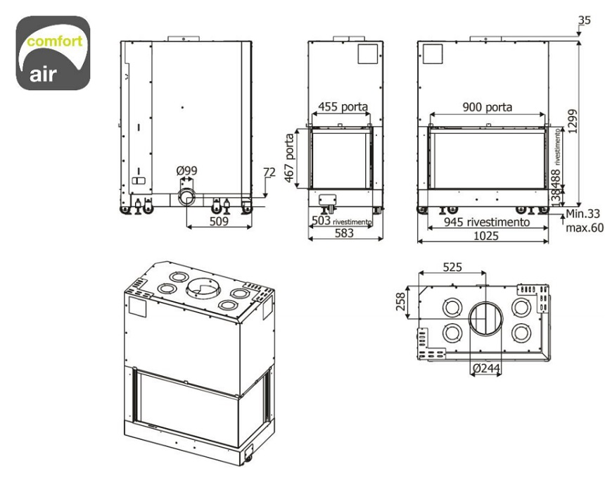 MCZ Forma 95 Rh-Lh rysunek techniczny.jp